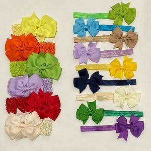 Other - 15 Baby Girl Bow Headbands